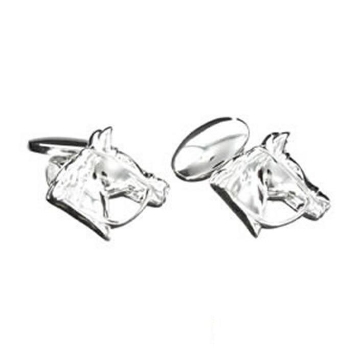Sterling Silver Horses Head Cufflinks