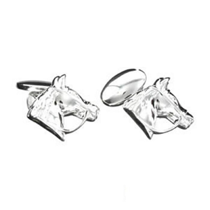 Sterling Silver Horses Head Cufflinks