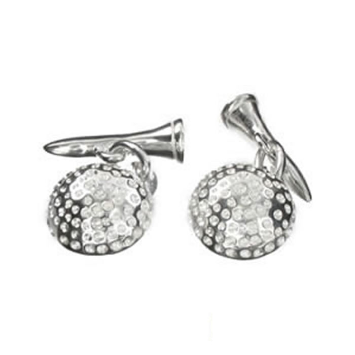 Sterling Silver Golf Ball Cufflinks