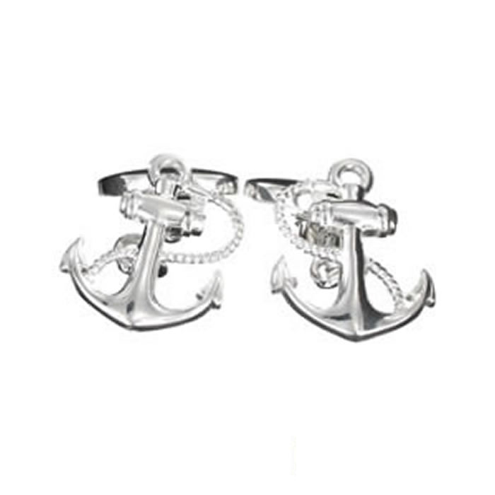 Sterling Silver Anchor Cufflinks