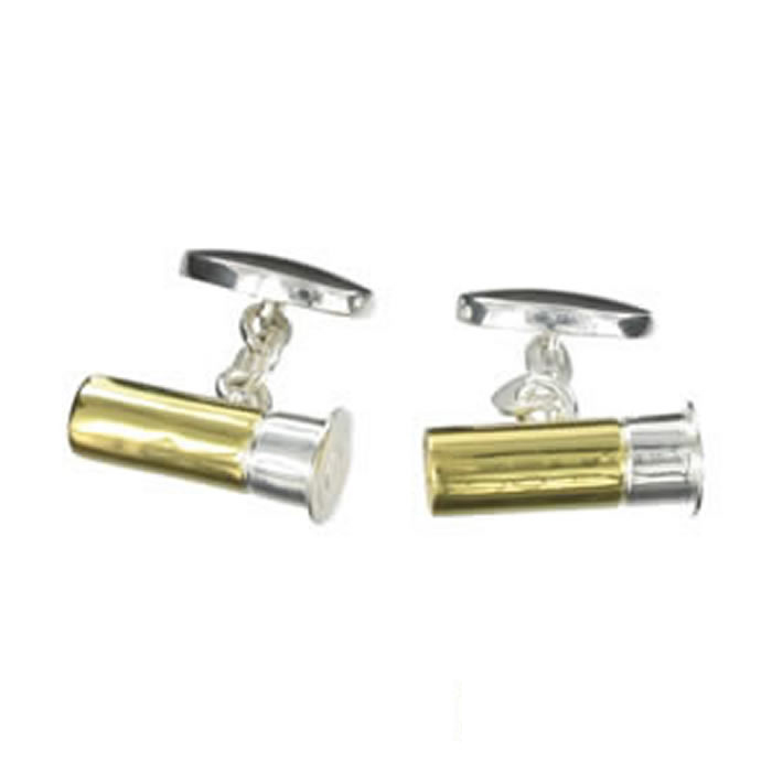 Sterling Silver Bullet Cartridge Cufflinks