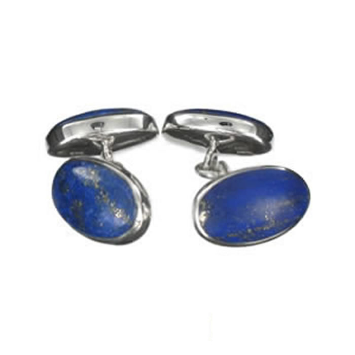 Sterling Silver Lapis Style Cufflinks