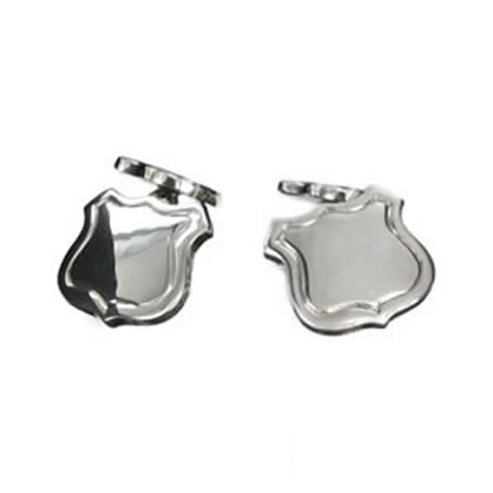 Sterling Silver Shield Cufflinks