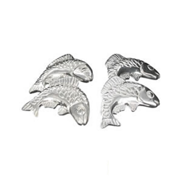 Sterling Silver Freshwater Fish Cufflinks
