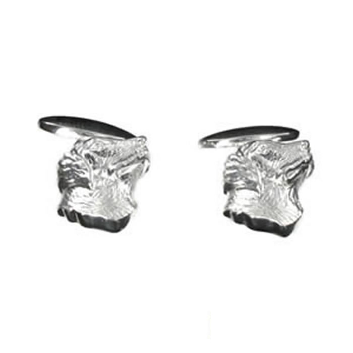 Sterling Silver Dogs Head Cufflinks