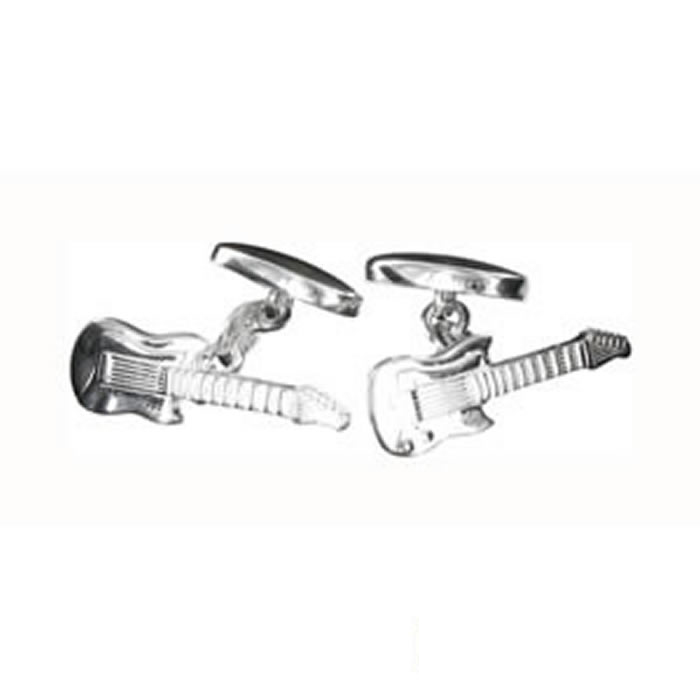 Sterling Silver Guitar Cufflinks