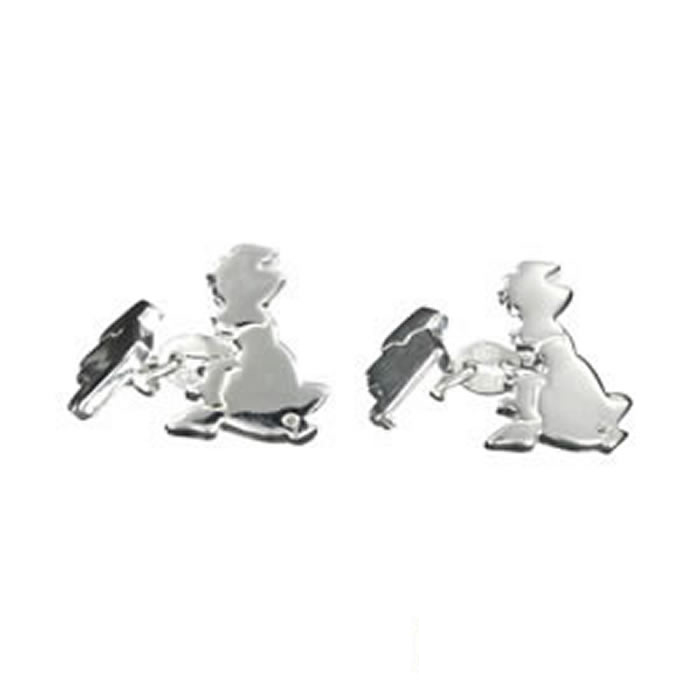 Sterling Silver British Isles Cufflinks