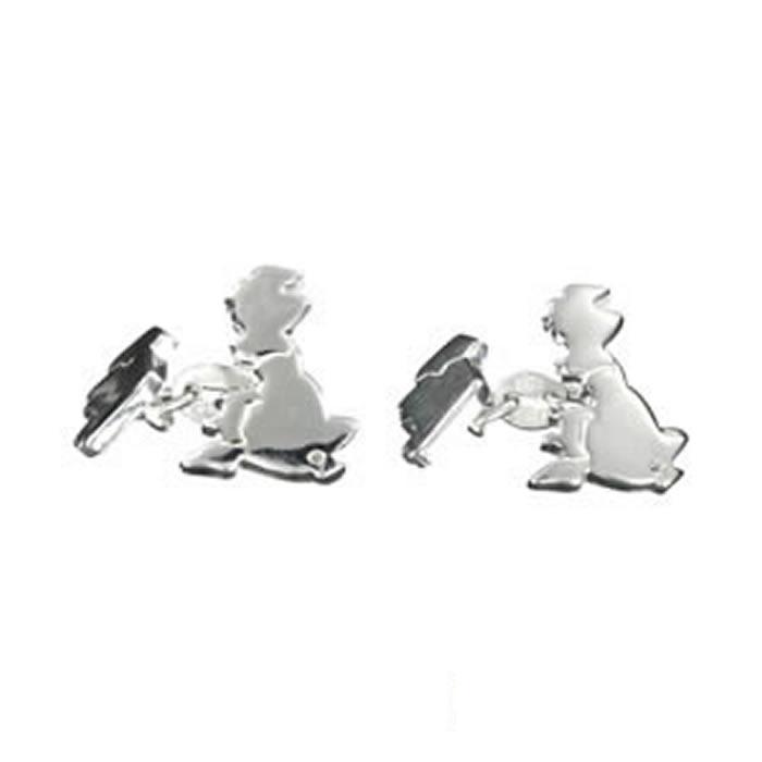 Sterling Silver British Isles Cufflinks
