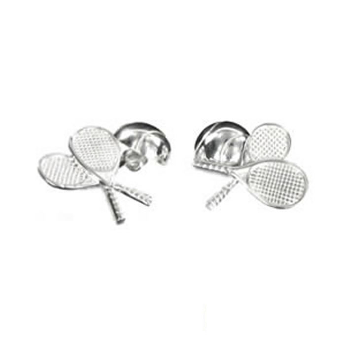 Sterling Silver Tennis Rackets Cufflinks