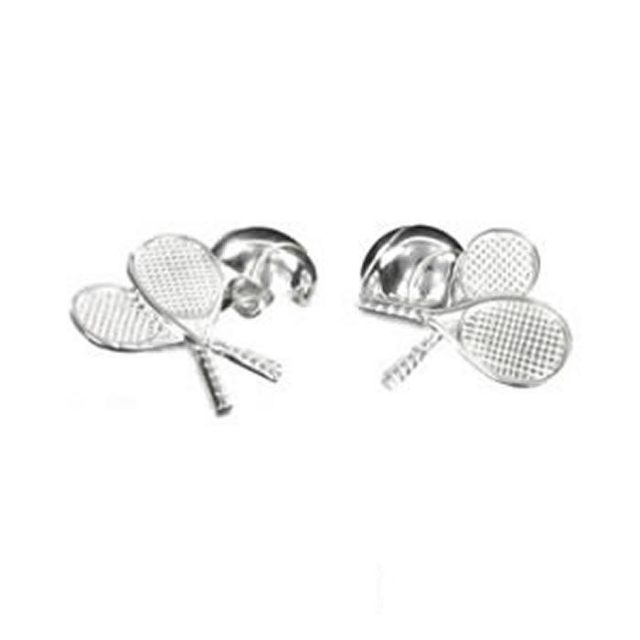 Sterling Silver Tennis Rackets Cufflinks