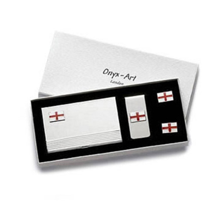 English Flag Cufflinks Box Set
