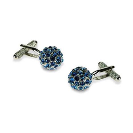 Spherical Blue Crystal Cufflinks
