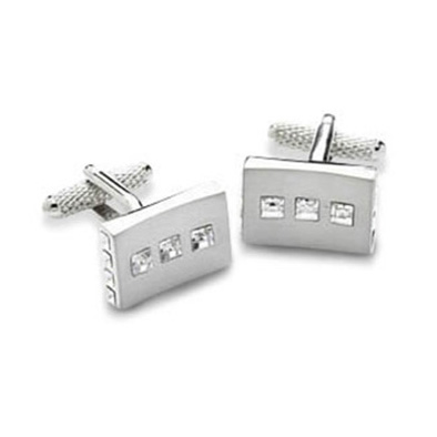 Square Coloured Crystal Cufflinks
