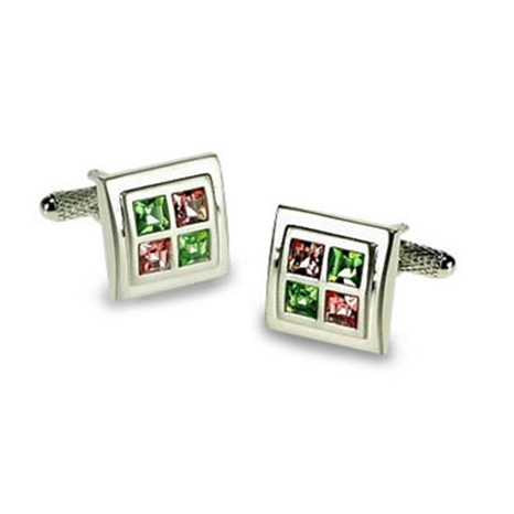 Peridot Rose Cufflinks