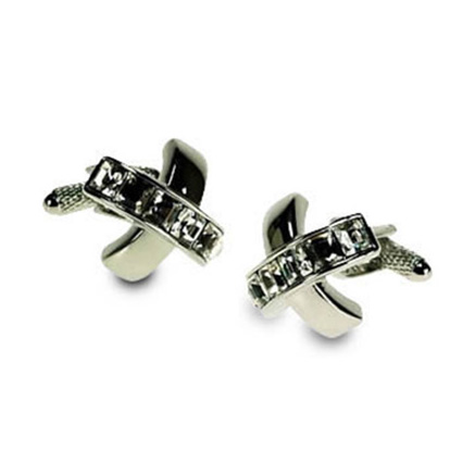 Clear Crystal Cufflinks