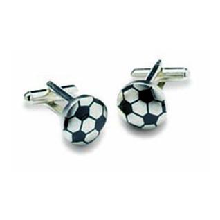 Football Shaped Cufflinks