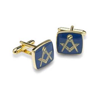 Blue Masonic Cufflinks