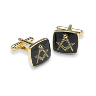 Black Masonic Cufflinks