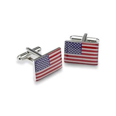 USA Or American Flag Style Cufflinks