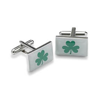 Ireland Irish Shamrock Shaped Cufflinks