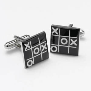 Noughts And Crosses Cufflinks