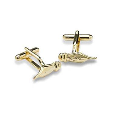 Gold Fountain Pen Cufflinks