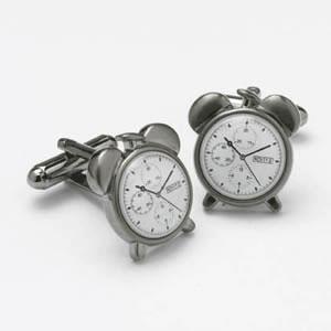 Standing Alarm Clock Cufflinks
