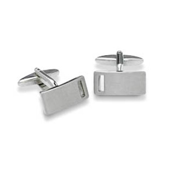 Rectangular With Cutaway Cufflinks