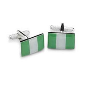 Nigeria Or Nigerian Flag Cufflinks