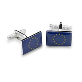 European Or Euro Flag Cufflinks
