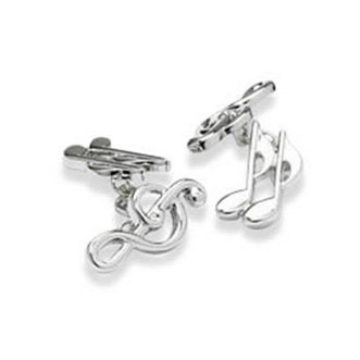 Treble Clef And Musical Notes Cufflinks
