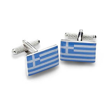 Greek Or Greece Flag Cufflinks