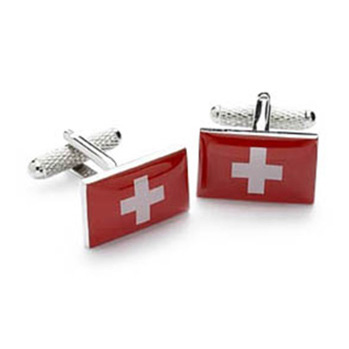 Switzerland Or Swiss Flag Cufflinks