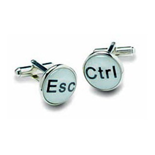 Esc And Ctrl Cufflinks