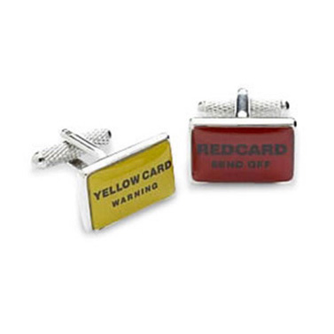 Yellow And Red Card Cufflinks