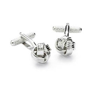 Knotted Up Silver Cufflinks