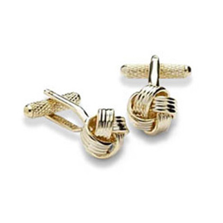 Knotted Up Gold Cufflinks