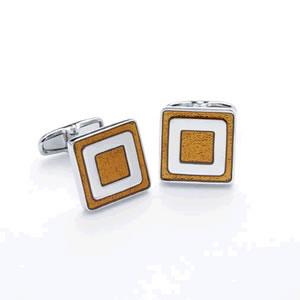 Orange Squares Cufflinks
