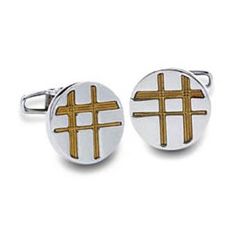 Criss Cross With Gold Cufflinks