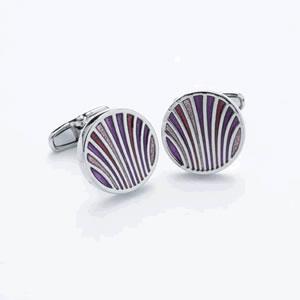 Purple Fountain Cufflinks