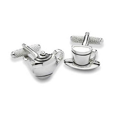 Tea Pot And Cup Cufflinks