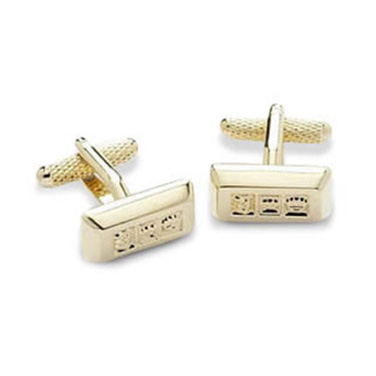 Gold With Symbols Cufflinks