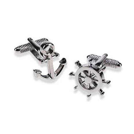 Wheel And Anchor Cufflinks