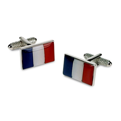 French Flag Style Cufflinks