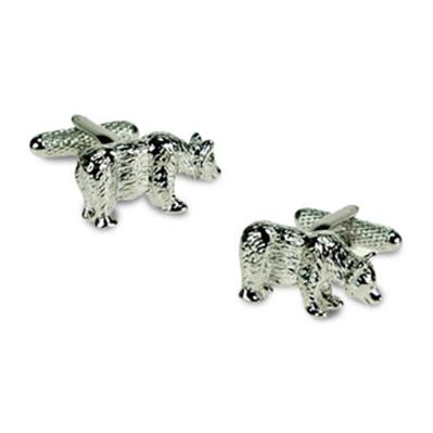 Silver Bear Cufflinks