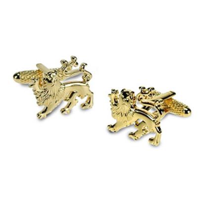 Gold Lions Crest Cufflinks