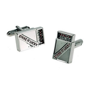 Silver Strike It Lucky Matches Cufflinks
