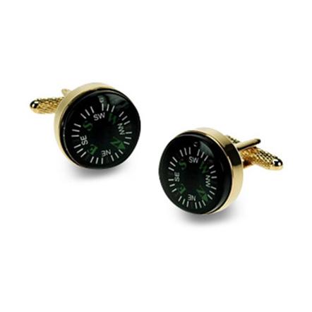 Gilt Compass Cufflinks