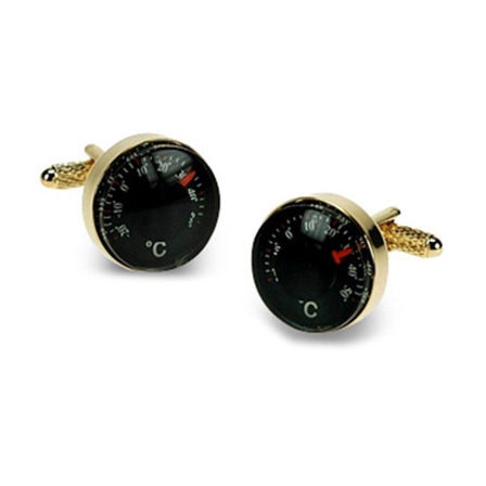 Gilt Thermometer Cufflinks