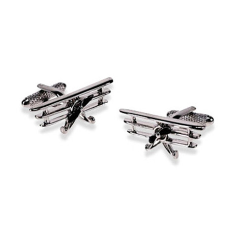 Old Fashioned Aeroplane Cufflinks